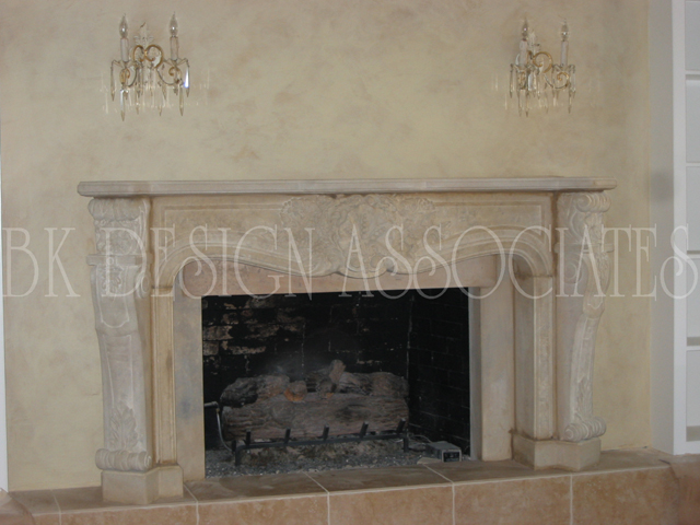 CUSTOM FIREPLACE DESIGN Interior Designer BK DESIGN ASSOCIATES